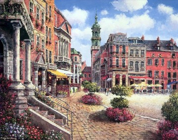 UX013 European Towns Oil Paintings